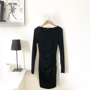 Express Long Sleeve Ruched Dress-Perfect Condition